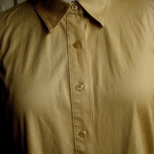 CHICO'S POLYESTER YELLOW BUTTONS FRONT BLOUSE XL-3